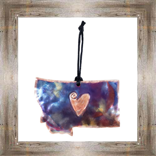 Love MT Handcrafted Copper Ornament $19.99 #5916
