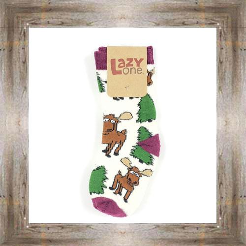 Moose & Trees (Purple) Infant Socks $6.00 #8818