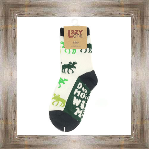 Don't Moose With Me (Green) Kids Socks $6.00 #8818