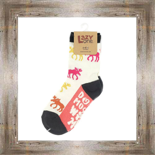 Don't Moose With Me (Pink) Kids Socks $6.00 #8818