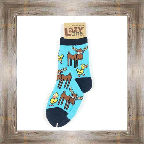 Moose & Ducks (Blue) Kids & Infant Socks $6.00 #8818