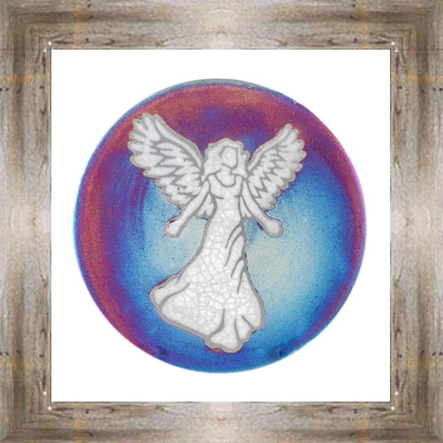 "'Raku' 5"" Angel Plate $14.25 #7484"