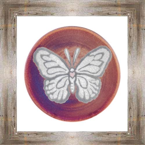 "'Raku' 5"" Butterfly Plate $14.25 #7484"