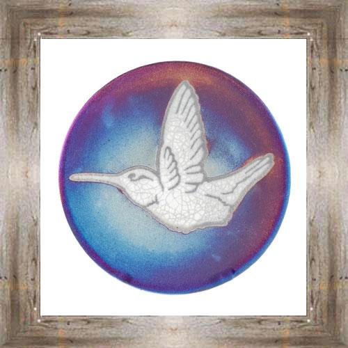"'Raku' 5"" Hummingbird Plate $14.25 #7484"