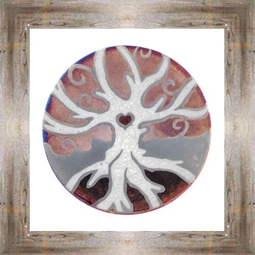 """'Raku' 5"""" Tree Of Life Plate $14.25 #7484"""