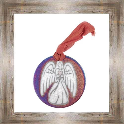 'Raku' Angel Medallion Ornament $12.99 #7554