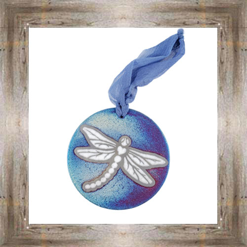 'Raku' Dragonfly Medallion Ornament $12.99 #7554