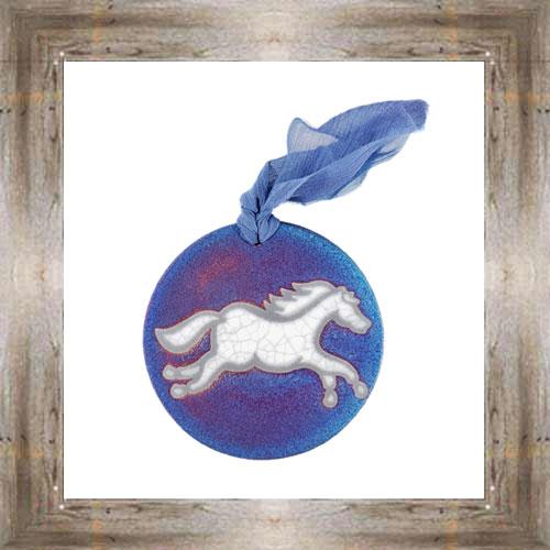 'Raku' Horse Medallion Ornament $12.99 #7554