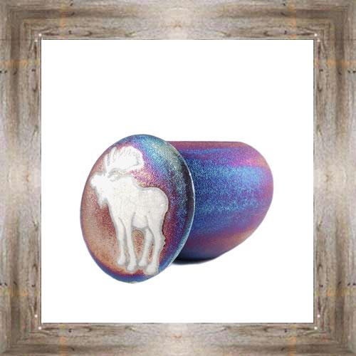 'Raku' Large Moose Dreamcatcher Jar$17.25 #8190