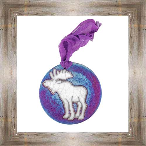 'Raku' Moose Medallion Ornament $12.99 #7554
