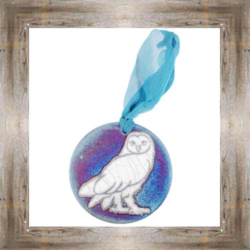 'Raku' Owl Medallion Ornament $12.99 #7554