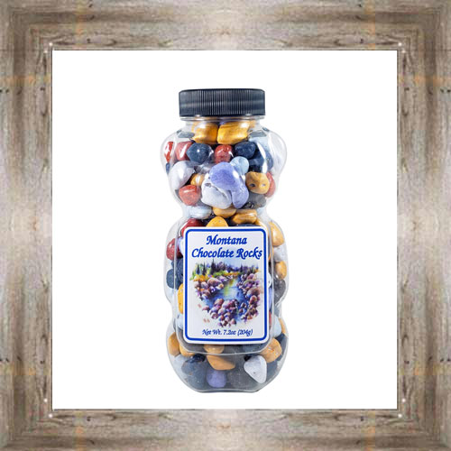 6.3 oz. Chocolate River Rock Bear $6.95 #5806